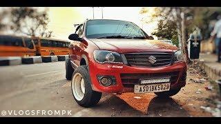 Maruti Suzuki Alto K10 Modified || Negative Rims & Wide Tyres || DRL & Projector Headlights ||