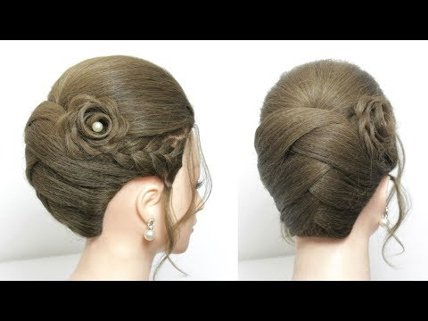 Bridal Hairstyle Tutorial. Updo For Long Medium Hair Step By Step