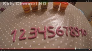 123 Learn NUMBERS, Play-Doh, Numbers Fun Play-Doh, Kids HD
