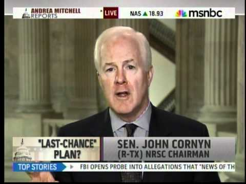 Cornyn discusses ongoing debt talks on MSNBC's' Andrea Mitchell Reports 7-15