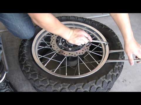 Changing the Rear Tire on a 2009 KLR 650 Part 1 of 2
