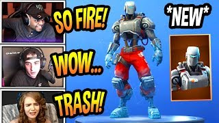 "STREAMERS REACT TO *NEW* ""HUNTING PARTY ROBOT SKIN!"" *LEGENDARY* Fortnite EPIC & FUNNY Moments"
