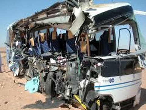 At least 33 Dead in Bus Crash in Egypt's Sinai | BREAKING NEWS - 22 AUG 2014