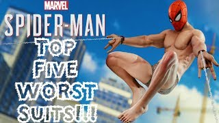 Top 5 WORST Suits in Spider-Man PS4!!!