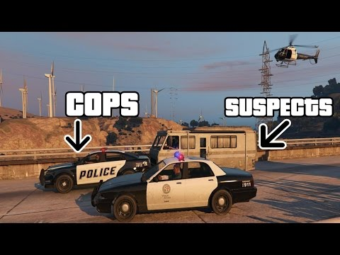GTA V Funny Police Pursuit Cops in front of suspects! (PC 60FPS) [1080p]
