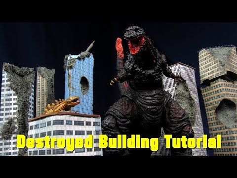 How To Make Damaged / Destroyed Buildings For SH MonsterArts, NECA, Bandai, SH Figuarts - Tutorial