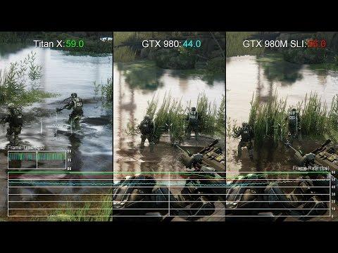 60fps Crysis 3 GTX 980M SLI vs Titan X GTX 980 Gameplay Frame Rate Test