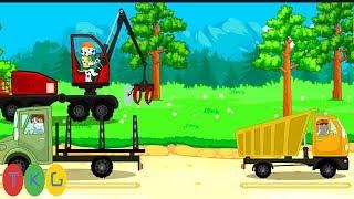 Xe Xúc Đất, Xe Tải & Xe Cần Cẩu, Máy Cắt Cây | Xe Công Trình các loại | TopKidsGames (TKG)