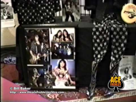 Ace Frehley and KISS memorabilia from the Bill Baker Ace Frehley Archive Museum displays 1990's