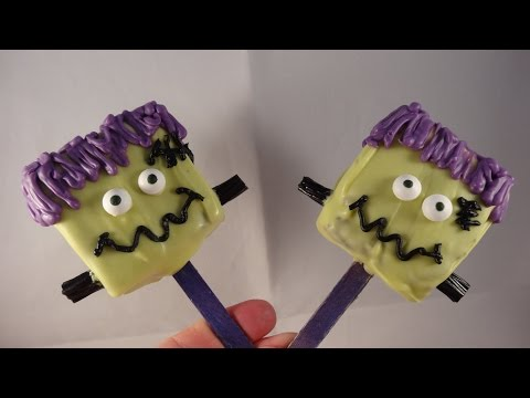 Frankenstein's Monster Brownie Pops- Frankenstein brownie