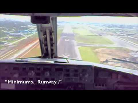 B737 Landing at old Kuching (WBGG) runway