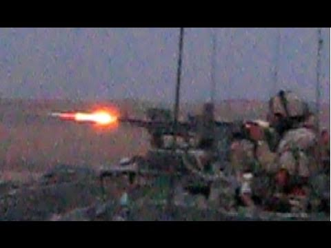 MACHINE GUN TRACERS FLYING IN AFGHANISTAN