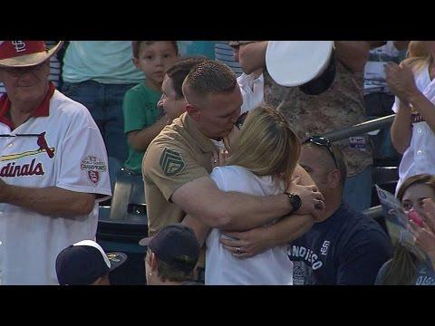 Marine surprises wife at Padres game