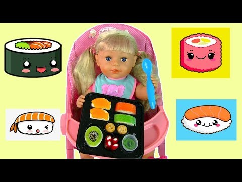 Куклы Пупсики #Бебибон Эмили Пробует Желейные Суши Конфеты Видео для Девочек