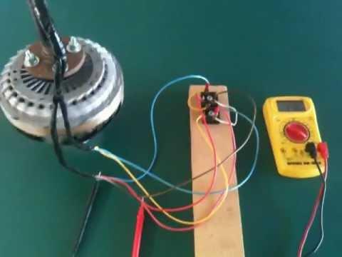 Ac motor generator conversion for Repurpose ceiling fan motor