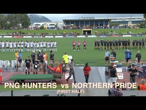 PNG Hunters v Northern Pride Pre-Season Trial 9.2.14 (First Half)