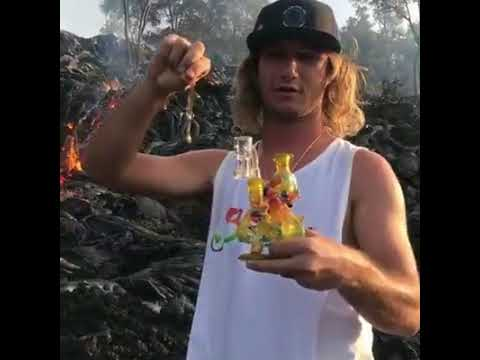 Dude Takes A Dab Hit Off Lava!