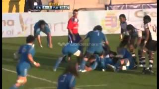 Rugby Union. Fiji set sin bin world record against Italy: 5 YELLOW CARDS!