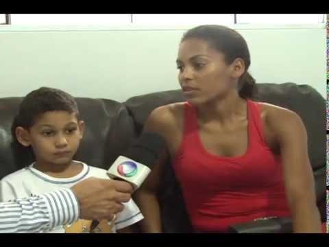 Banco do povo com o menino Gabriel