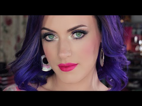 Katy Perry Inspired Makeup Amp Purple Hair YouTube