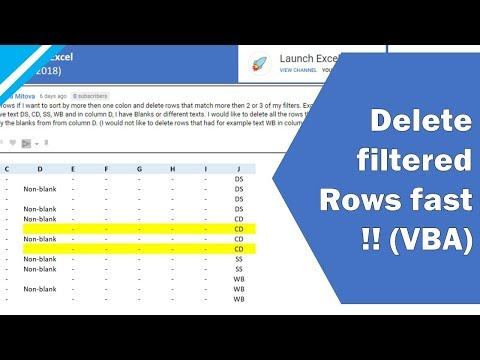 Excel Tutorial: How to use VBA to delete filtered rows (fast!!) ... and also delete hidden rows