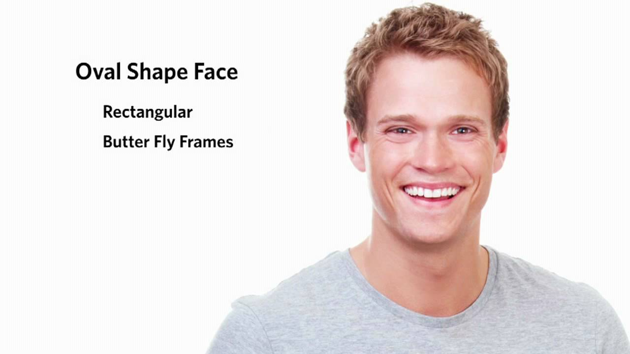 Frames for an Oval Face Shape - Male - YouTube