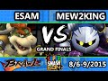 Super Smash Con - ESAM (Pikachu, Samus, Bowser) Vs. Mew2King (Meta Knight) - Grand Finals - SSBB