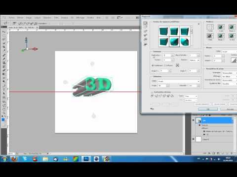 tutorial photoshop cs5 fr texte effet 3d