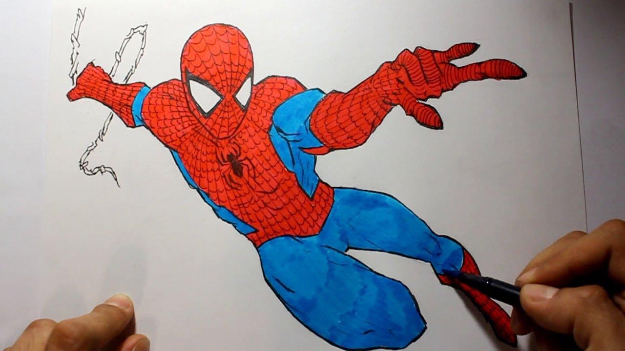 Wie zeichnet man Spiderman [Marvel Tutorial] - YouTube