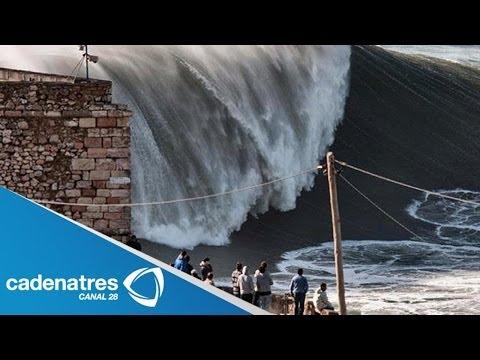Impresionantes imágenes de las fuertes olas que golpean a Reino Unido (VIDEO)