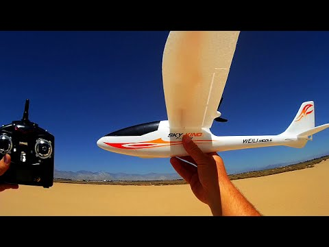 WLToys F959 Sky King. 3 Channel RC Airplane Review