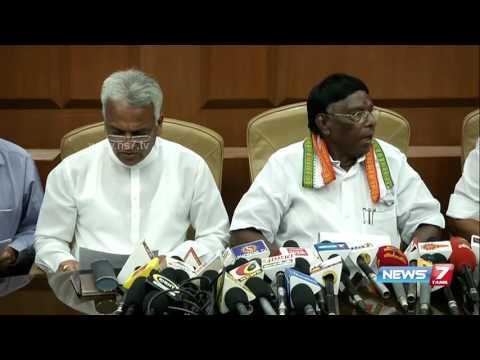 Puducherry CM Narayanasamy reaches Delhi to meet PM Modi   News7 Tamil