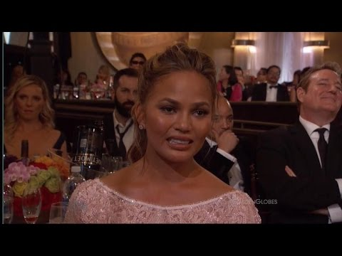 Chrissy Teigen's Awkward Crying Face Becomes A Viral Sensation at the Golden Globes