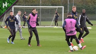 Rejuvenated Arsenal Train Ahead Of Olympiakos | Olympiakos v Arsenal | Europa League