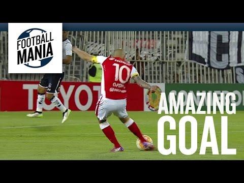 Amazing Goal: Omar Pérez - Santa Fe Vs. Colo Colo video