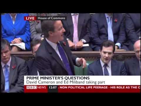 Ed Miliband refers to Simon Hughes and Nick Clegg as Glum and Glummer