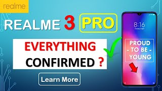 Realme 3 Pro Before launch confirmed Specifications Design, Display, Camera, Processor, Battery