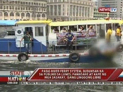 Pasig River Ferry Schedule Pasig River Ferry System