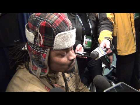 Marshawn Lynch's Epic One-Word Post-Game Interview