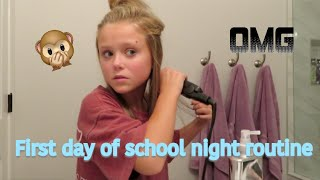 Night Time Routine For The First Day Of School😭| Angelina Drake