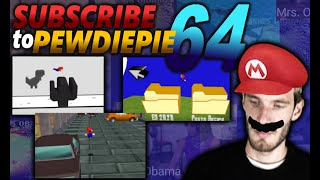 subscribing to pewdiepie on my nintendo 64 (AND STOPPING HIM FROM SAYING THE N WORD)