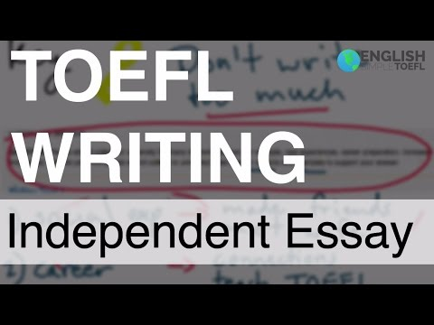 Toefl essay question types