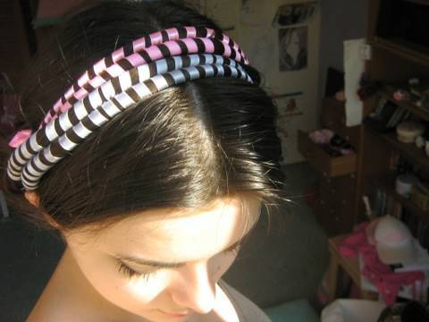 Ribbon & hair headband updo