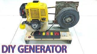 Build 220v Dynamo Generator Using 4-stroke Engine