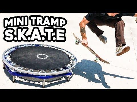 MINI TRAMPOLINE GAME OF S.K.A.T.E!!!  *At the Skatepark*