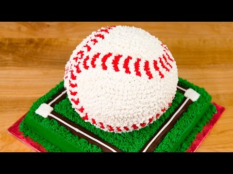 3D Baseball Cake from Cookies Cupcakes and Cardio
