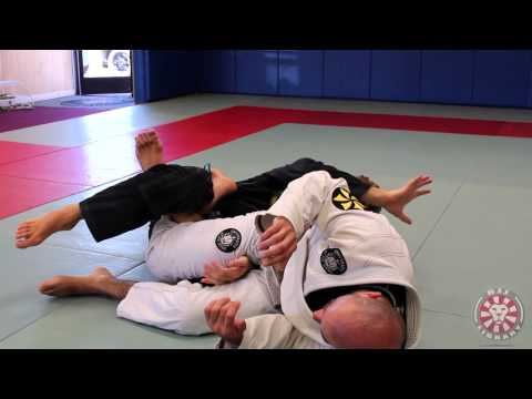 Clark Gracie Rolling Calf Slicer against De la Riva Guard at BJJLIBRARY Image 1