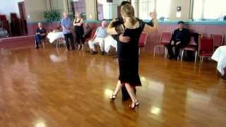 Argentine Tango Figure with Slow Motion   Multiple Sacadas + Barrida, Triple Ganchos 9/6/2015