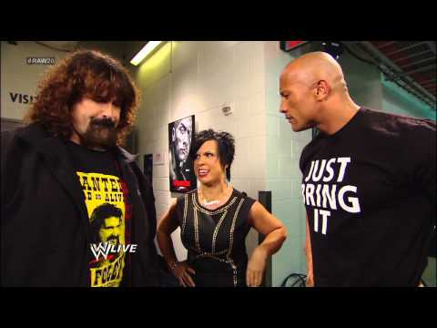 Mick Foley catches up with The Rock: Raw, Jan. 14, 2013