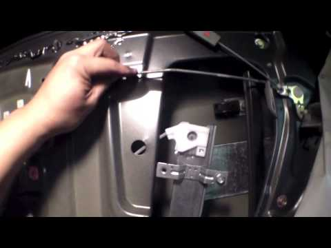Replace rear window regulator motor 2004 Honda Pilot